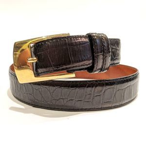 Joan & David Leather Black Belt Made in Italy